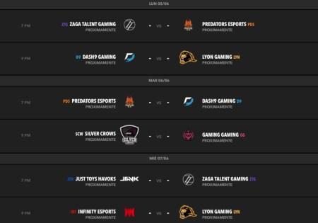 La Liga Latinoamérica Norte de League of Legends ya comenzó con grandes sorpresas - calendario-de-la-semana-2-del-torneo-de-clausura-de-la-lln