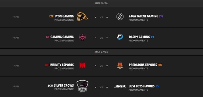 Semana 4: Predators eSports continúa peleando el liderato de la LLN con Lyon Gaming - calendario-semana-5-clausura-lln-2017-800x385