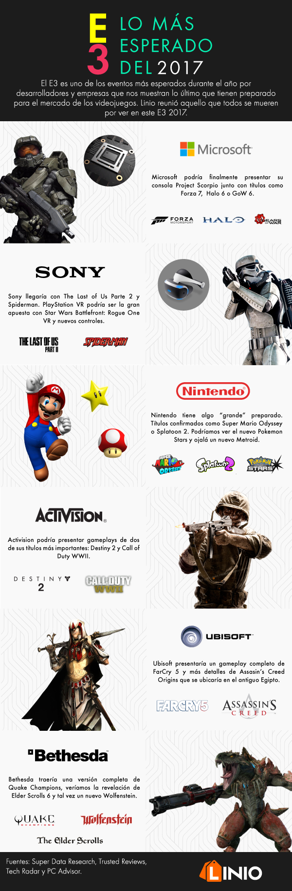 Infografía: Lo más esperado del E3 2017 - e3_2017_info