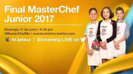 Final de MasterChef Junior 2017 en vivo por Twitter ¡Entérate!