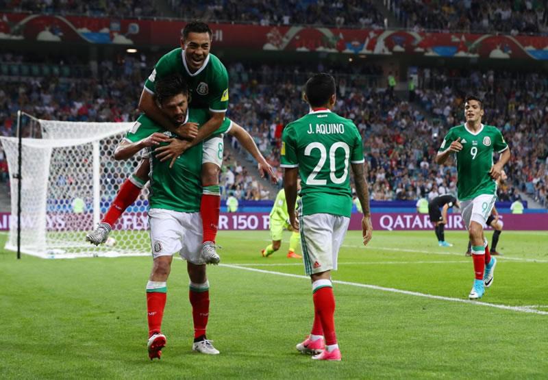 México a su último ensayo del partido contra Rusia en Confederaciones
