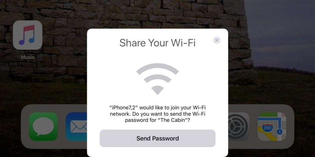 Dispositivos con iOS 11 podrán compartir la contraseña del WiFi con otros iPhone, iPad y iPod Touch - ios-11-compartir-wifi