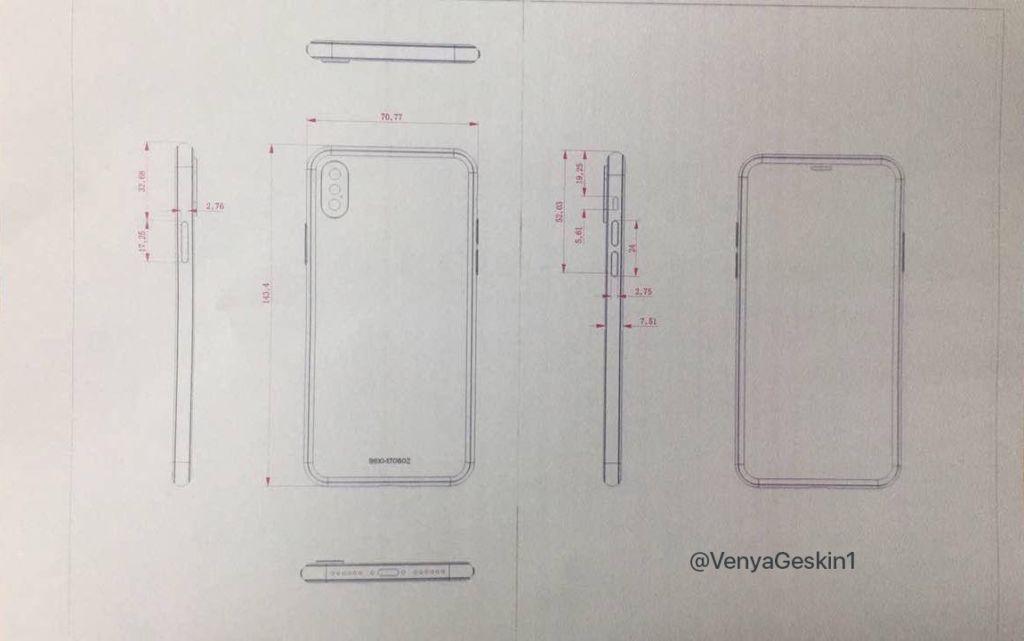 """Esquemas """"finales"""" del iPhone 8 y del 7S Plus aparecen en la web - iphone-8-final-schematics"""