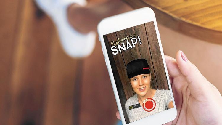 mcdonalds snapchat snaplications McDonalds contratará personal vía Snapchat en los Estados Unidos
