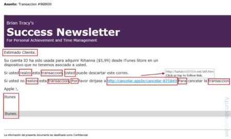 Advierten sobre correo falso que supone la compra de temas de Rihanna en iTunes - correo-falso-que-supone-la-compra-de-temas-de-rihanna-en-itunes-450x271