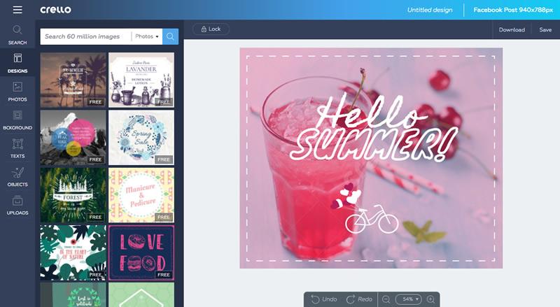 crello editor grafico Crea imagenes para Facebook, postales y más gratis con Crello ¡Ahora en español!