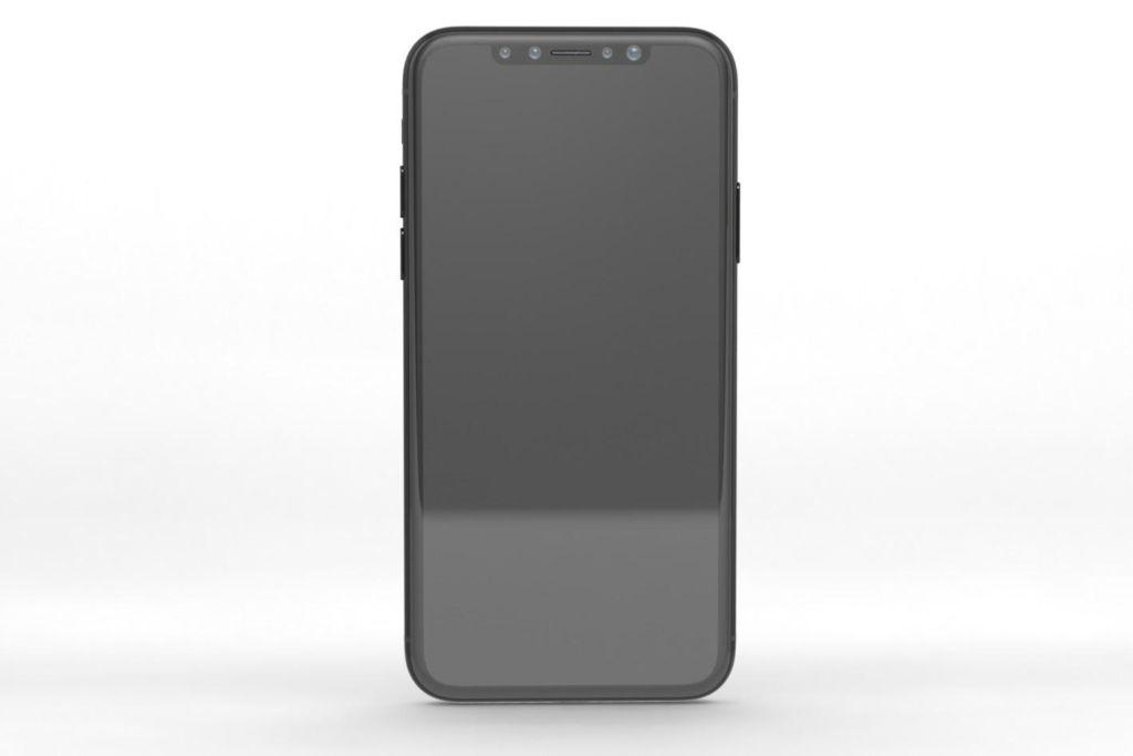 El iPhone 8 podría integrar el TouchID en el botón de encendido - iphone-8-render-front