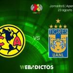 América vs Tigres, Jornada 6 de Liga MX A2017   En vivo