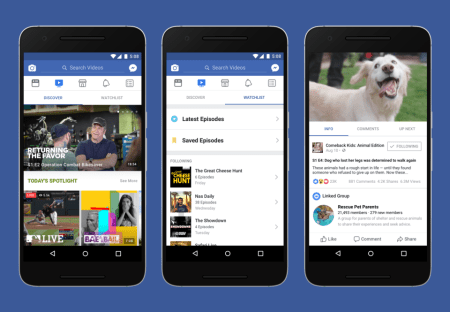 Facebook presenta a Watch, su servicio de vídeo en streaming