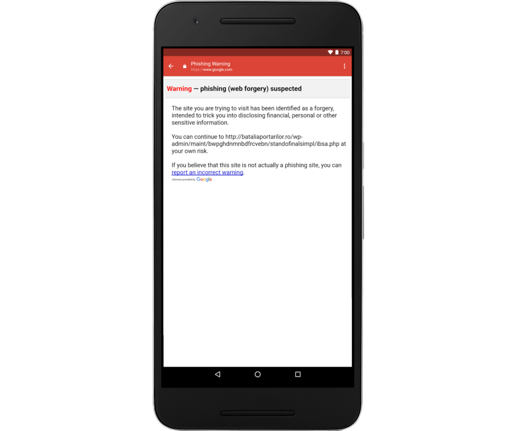 Gmail para iOS te alertará de correos con enlaces phishing - gm-phishing-warning