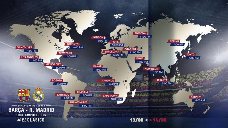 Barcelona vs Real Madrid: horario y canales; Supercopa de España 2017 - horarios-supercopa-espana-2017-barcelona-vs-real-madrid