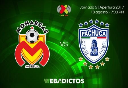 Morelia vs Pachuca, Jornada 5 de la Liga MX A2017 | Resultado: 1-2