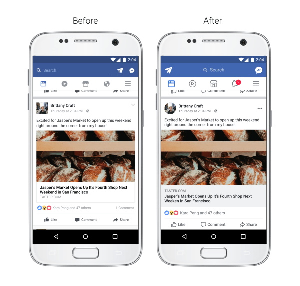 Facebook anuncia un rediseño de su aplicación para móviles