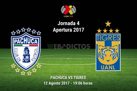 Pachuca vs Tigres, Jornada 4 Apertura 2017 | Resultado: 2-1
