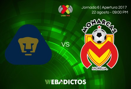 Pumas vs Morelia, Jornada 6 de la Liga MX A2017 | Resultado: 1-2