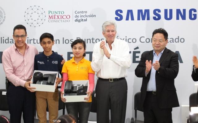 Puntos México Conectado, programa que ofrecen entrenamiento y educación digital gratuita - samsung-mexico-y-la-sct