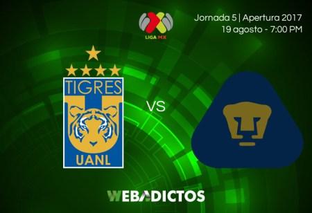 Tigres vs Pumas, Jornada 5 de Liga MX A2017 ¡En vivo por internet!