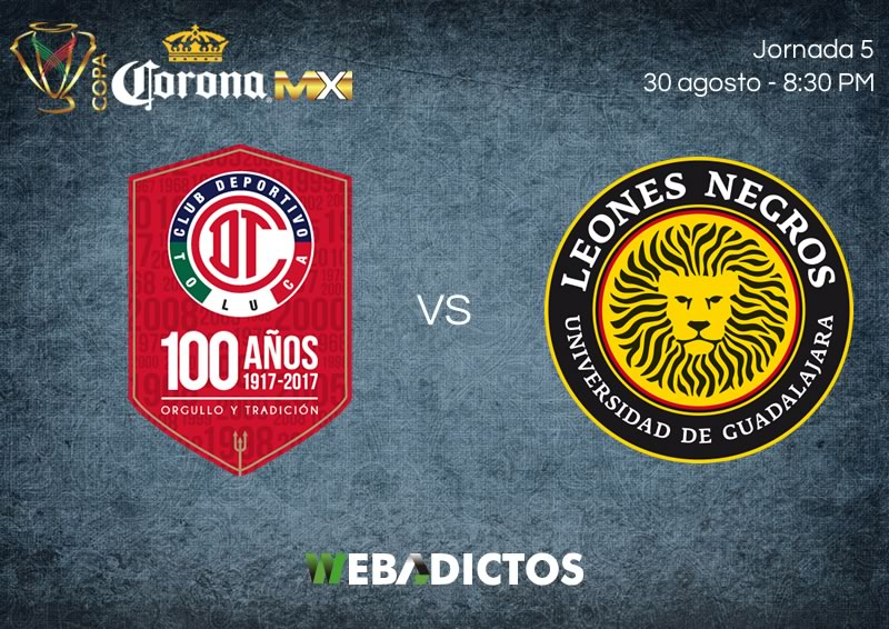 Toluca golea a los Leones Negros en la Copa MX