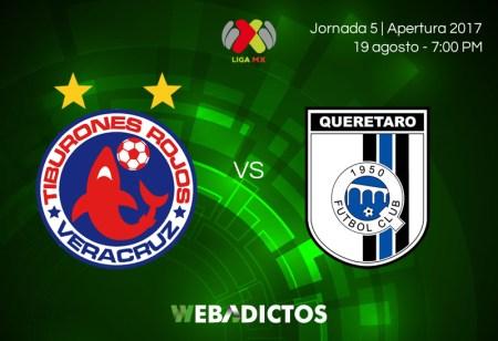 Veracruz vs Querétaro, J5 del Apertura 2017 | Resultado: 1-1