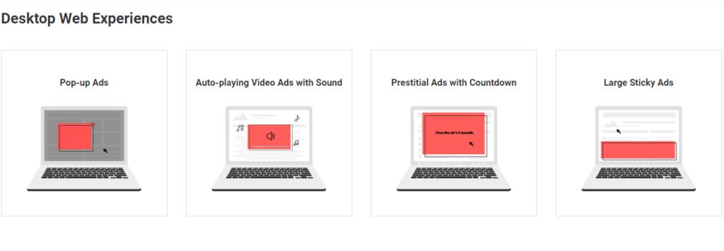 worst desktop ads Google quiere combatir anuncios molestos en sitios web