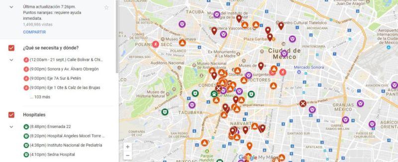 Google activa Mapa de Crisis tras sismo en México - 1-800x327