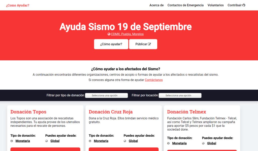 ¿Cómo Ayudar?: el repositorio para encontrar formas de apoyo a los afectados del sismo en CDMX, Morelos y Puebla - como-ayudar-frontpage