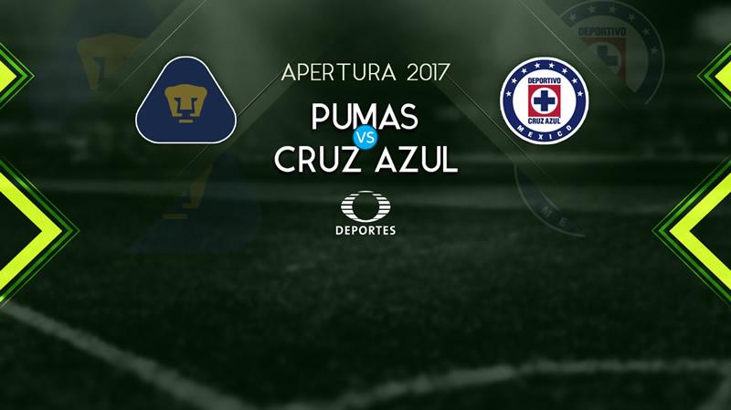 Pumas vs Cruz Azul, Jornada 12 del Apertura 2017 | Resultado: 1-4 - pumas-vs-cruz-azul-televisa-deportes-apertura-2017-800x449