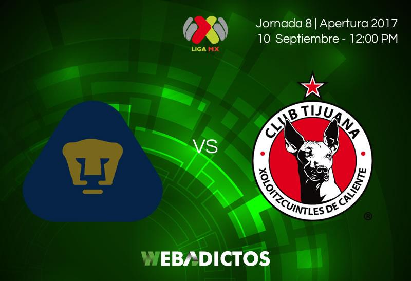 Marcelo Díaz y Nicolás Castillo jugaron en derrota de Pumas ante Tijuana