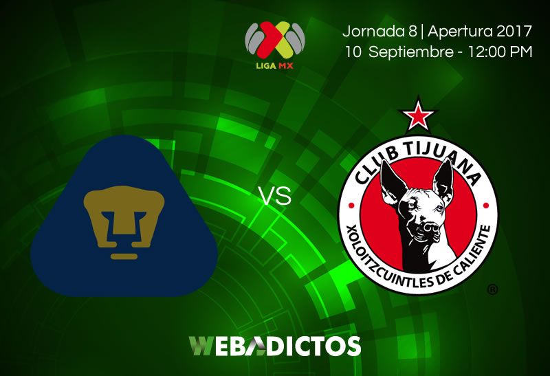 Pumas vs Tijuana en la Jornada 8 AP2017 | Resultado: 0-2 - pumas-vs-tijuana-j8-apertura-2017