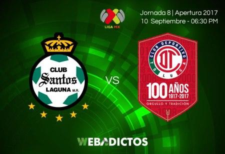 Santos vs Toluca, Jornada 8 Apertura 2017   Resultado: 0-0