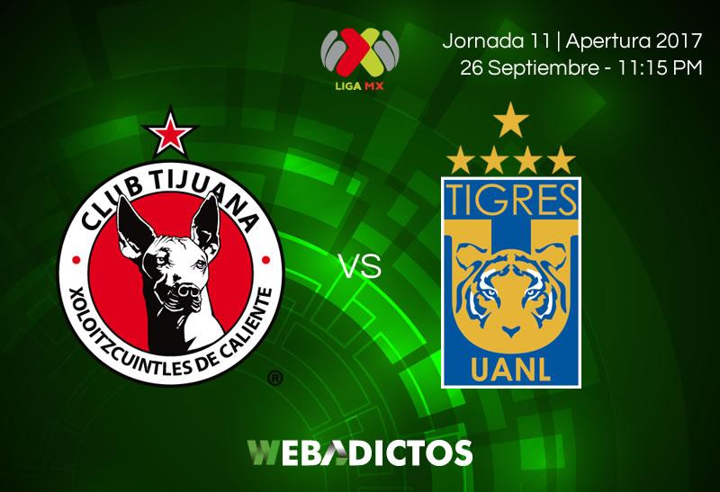 Tijuana vs Tigres, Jornada 11 del Apertura 2017 | Resultado: 0-1 - xolos-tijuana-vs-tigres-j11-apertura-2017