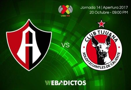 Atlas vs Tijuana, Jornada 14 Apertura 2017 ¡En vivo por internet!