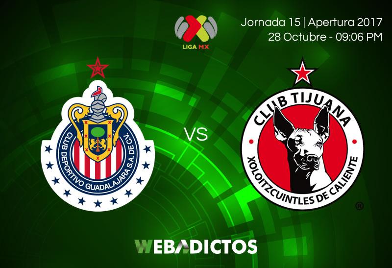 Chivas vs Tijuana, Liga MX J15 Apertura 2017 ¡En vivo por internet! - chivas-vs-tijuana-jornada-15-apertura-2017-800x547