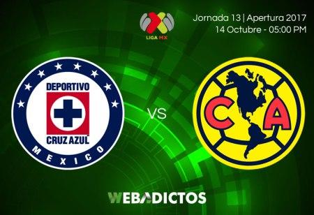 Cruz Azul vs América, Jornada 13 del Apertura 2017 | Resultado: 1-3