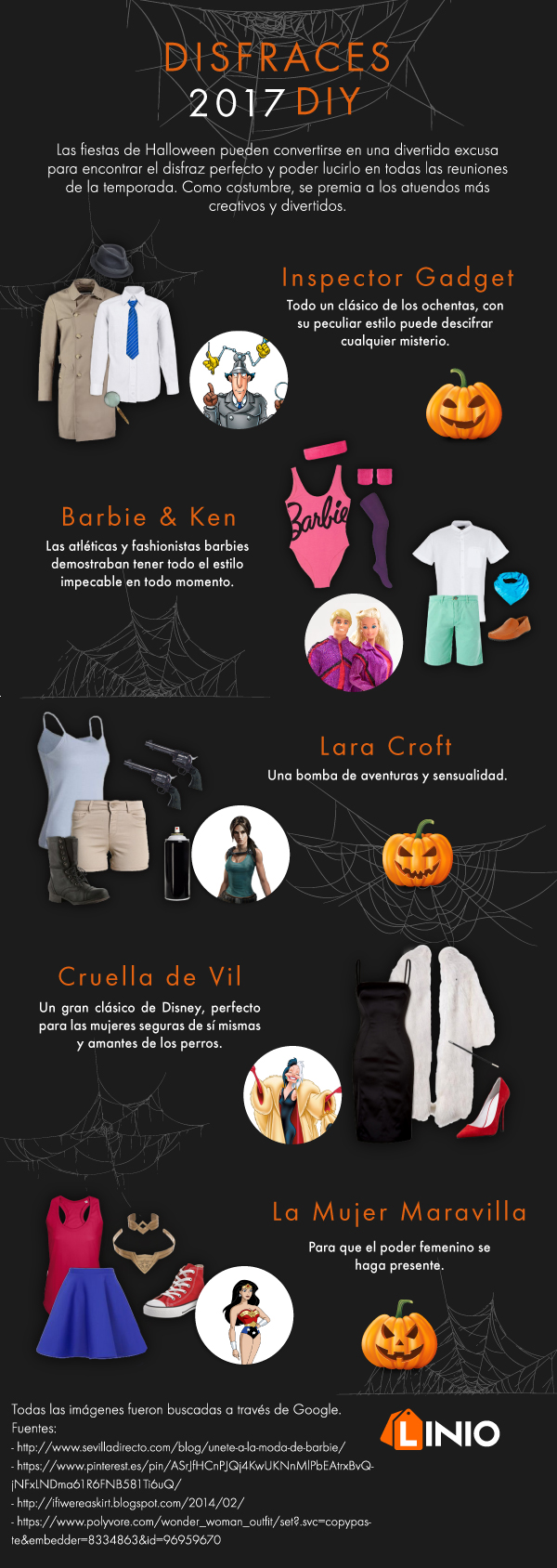 Los mejores disfraces DIY para esta Halloween 2017 - disfraces_diy_infografia