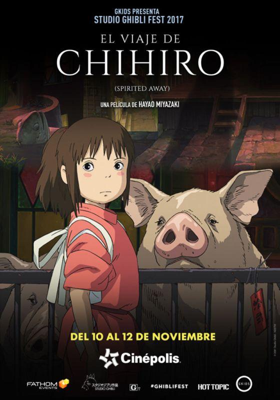 el viaje de chihiro 560x800 Cinépolis presentará colección de películas animadas más famosas del mundo