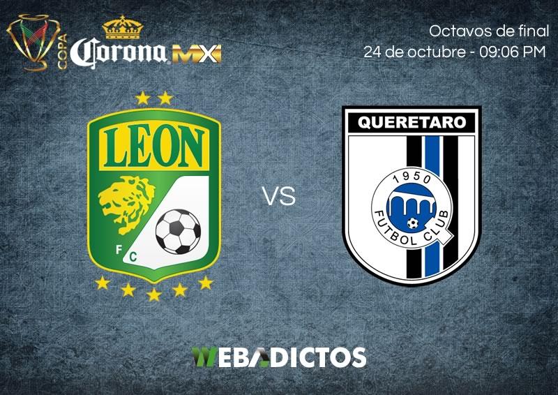 León vs Querétaro, Octavos de Copa MX A2017 | Resultado: 1 (2) - (4) 1 - leon-vs-queretaro-24-octubre-copa-mx-apertura-2017-800x566
