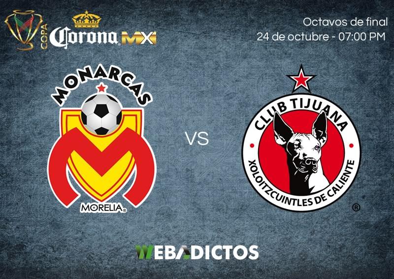 Morelia vs Tijuana, Octavos de Copa MX A2017   Resultado: 2 (2) - (4) 2 - morelia-vs-tijuana-24-octubre-copa-mx-apertura-2017-800x566