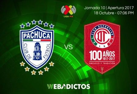 Pachuca vs Toluca, J10 de Liga MX Apertura 2017 ¡En vivo por internet!