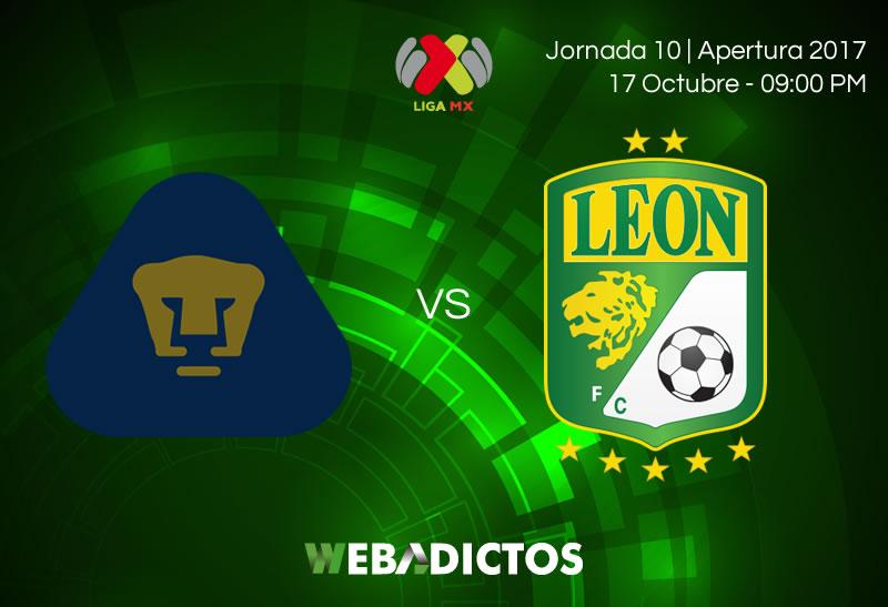 Pumas vs Léon, Jornada 10 Liga MX A2017 | Resultado: 2-0 - pumas-vs-leon-j10-apertura-2017-800x547