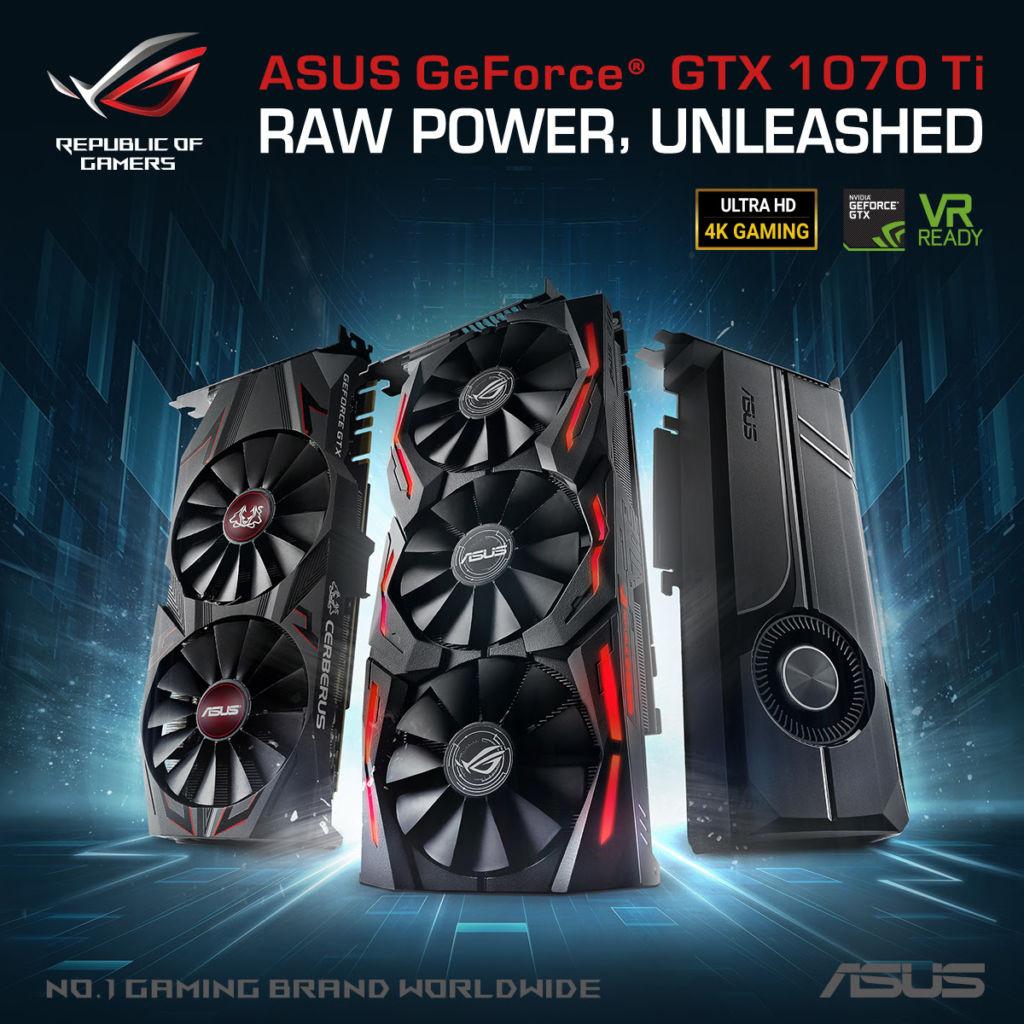 ASUS anuncia la serie de tarjetas de Video Gaming GeForce GTX 1070 Ti - tarjetas-de-video-gaming-geforce-gtx-1070-ti