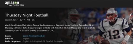 Amazon anuncia los resultados de su transmisión del Thursday Night Football