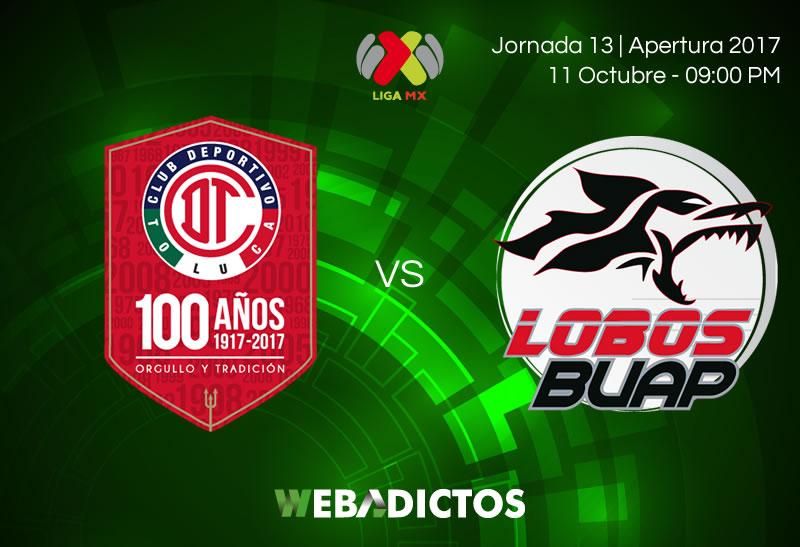 Toluca vs Lobos BUAP, Jornada 13 de Liga MX A2017 | Resultado: 3-1 - toluca-vs-lobos-buap-j13-apertura-2017-800x547
