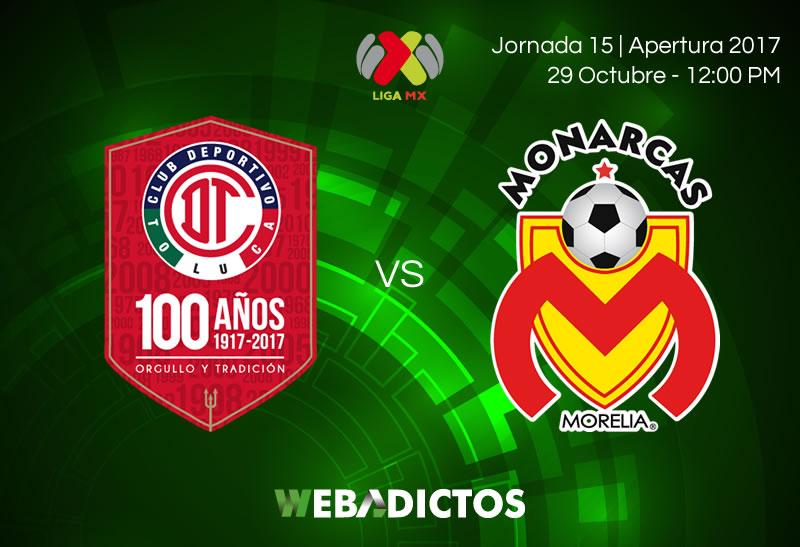 Toluca vs Morelia, Jornada 15 Apertura 2017   Resultado: 0-1 - toluca-vs-morelia-jornada-15-apertura-2017-800x547