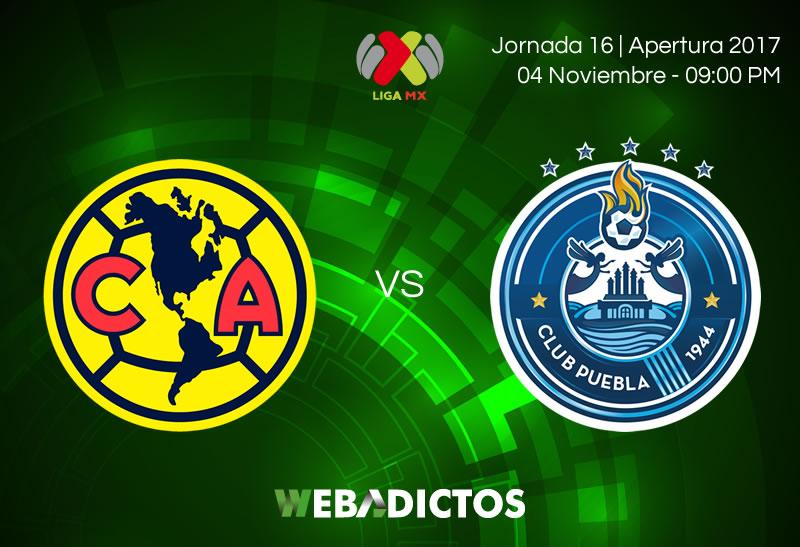 América vs Puebla, 4 de noviembre en el A2017 | Resultado: 1-1 - america-vs-puebla-jornada-16-apertura-2017-800x547