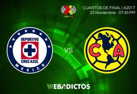 Cruz Azul vs América, Ida de Liguilla A2017 ¡En vivo por internet!