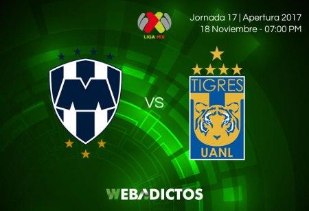 Monterrey vs Tigres, Clásico Regio J17 A2017 ¡En vivo por internet!