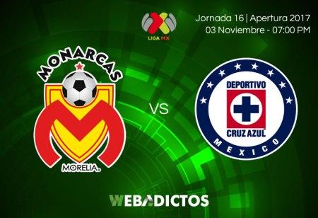 Morelia vs Cruz Azul, Jornada 16 Apertura 2017 | Resultado: 1-2