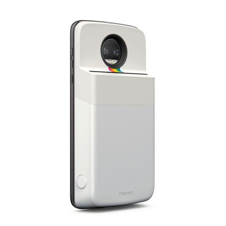 Nuevo Moto Mod Polaroid Insta-Share Printer - motomods_polaroid_sideangle_motoz2force