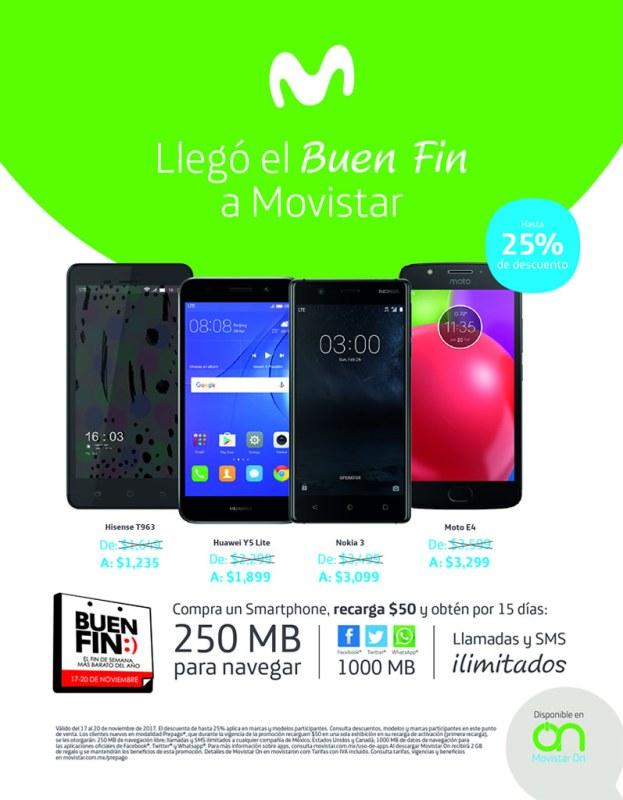 Promociones y ofertas del Buen Fin 2017 en Movistar ¡Conócelas! - ofertas-movistar-buen-fin-2017-623x800